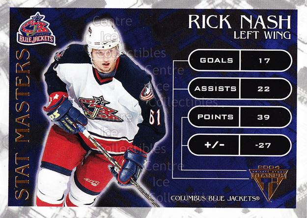 2003-04 Titanium Stat Masters #4 Rick Nash<br/>3 In Stock - $3.00 each - <a href=https://centericecollectibles.foxycart.com/cart?name=2003-04%20Titanium%20Stat%20Masters%20%234%20Rick%20Nash...&quantity_max=3&price=$3.00&code=118710 class=foxycart> Buy it now! </a>