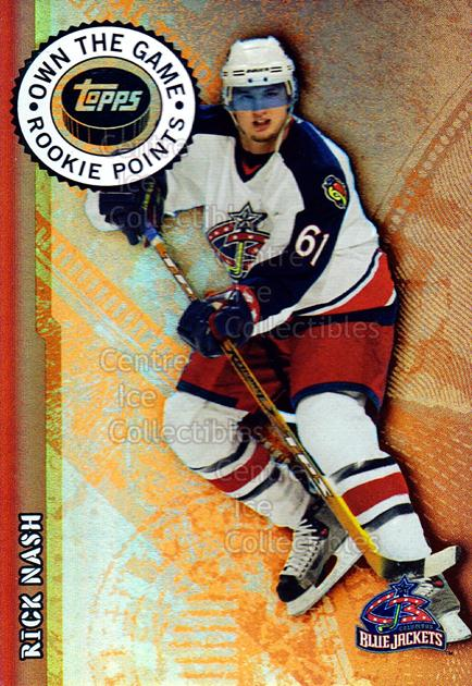 2003-04 Topps Own the Game #8 Rick Nash<br/>13 In Stock - $2.00 each - <a href=https://centericecollectibles.foxycart.com/cart?name=2003-04%20Topps%20Own%20the%20Game%20%238%20Rick%20Nash...&quantity_max=13&price=$2.00&code=118874 class=foxycart> Buy it now! </a>