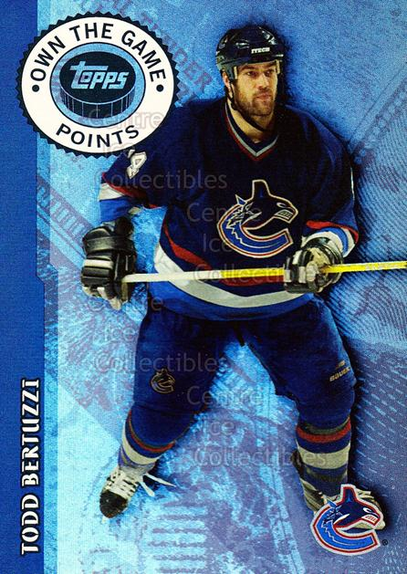 2003-04 Topps Own the Game #5 Todd Bertuzzi<br/>14 In Stock - $2.00 each - <a href=https://centericecollectibles.foxycart.com/cart?name=2003-04%20Topps%20Own%20the%20Game%20%235%20Todd%20Bertuzzi...&quantity_max=14&price=$2.00&code=119276 class=foxycart> Buy it now! </a>