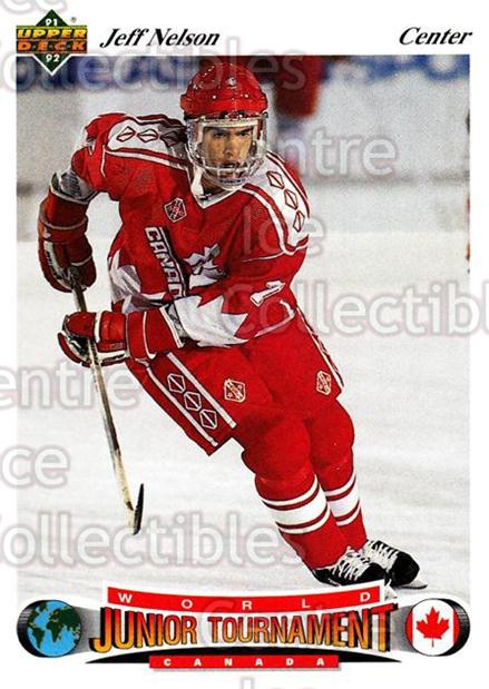1991-92 Upper Deck Czech World Juniors #63 Jeff Nelson<br/>12 In Stock - $2.00 each - <a href=https://centericecollectibles.foxycart.com/cart?name=1991-92%20Upper%20Deck%20Czech%20World%20Juniors%20%2363%20Jeff%20Nelson...&quantity_max=12&price=$2.00&code=11931 class=foxycart> Buy it now! </a>