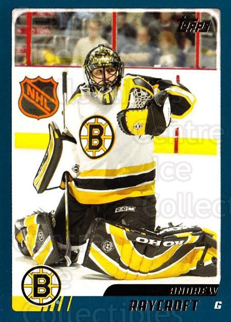 2003-04 Topps Traded #32 Andrew Raycroft<br/>6 In Stock - $1.00 each - <a href=https://centericecollectibles.foxycart.com/cart?name=2003-04%20Topps%20Traded%20%2332%20Andrew%20Raycroft...&quantity_max=6&price=$1.00&code=119421 class=foxycart> Buy it now! </a>