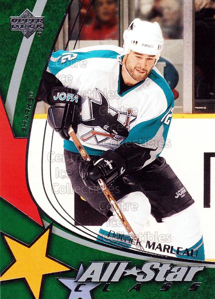 2003-04 Upper Deck AS Class #24 Patrick Marleau<br/>9 In Stock - $3.00 each - <a href=https://centericecollectibles.foxycart.com/cart?name=2003-04%20Upper%20Deck%20AS%20Class%20%2324%20Patrick%20Marleau...&quantity_max=9&price=$3.00&code=119943 class=foxycart> Buy it now! </a>