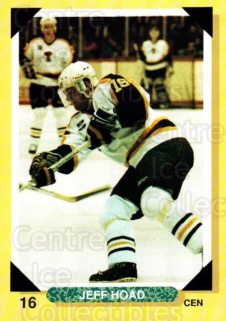 1992-93 Brandon Wheat Kings #12 Jeff Hoad<br/>1 In Stock - $3.00 each - <a href=https://centericecollectibles.foxycart.com/cart?name=1992-93%20Brandon%20Wheat%20Kings%20%2312%20Jeff%20Hoad...&quantity_max=1&price=$3.00&code=11998 class=foxycart> Buy it now! </a>