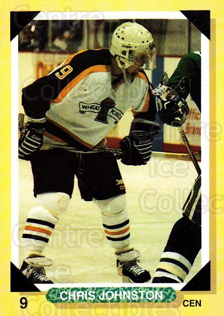 1992-93 Brandon Wheat Kings #8 Chris Johnstone<br/>1 In Stock - $3.00 each - <a href=https://centericecollectibles.foxycart.com/cart?name=1992-93%20Brandon%20Wheat%20Kings%20%238%20Chris%20Johnstone...&quantity_max=1&price=$3.00&code=11999 class=foxycart> Buy it now! </a>