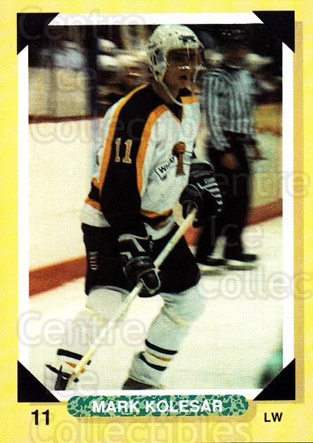 1992-93 Brandon Wheat Kings #9 Mark Kolesar<br/>3 In Stock - $3.00 each - <a href=https://centericecollectibles.foxycart.com/cart?name=1992-93%20Brandon%20Wheat%20Kings%20%239%20Mark%20Kolesar...&quantity_max=3&price=$3.00&code=12000 class=foxycart> Buy it now! </a>