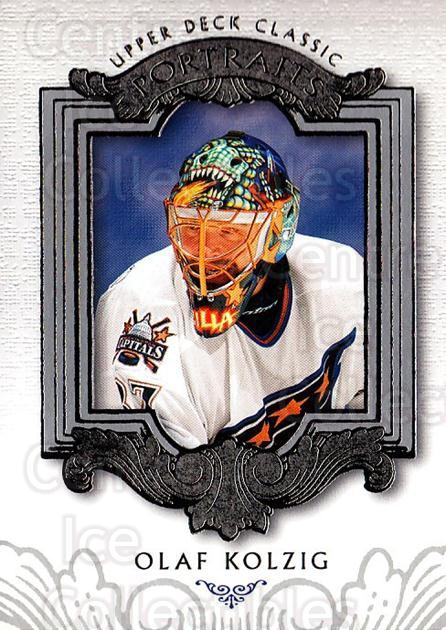 2003-04 UD Classic Portraits #100 Olaf Kolzig<br/>4 In Stock - $1.00 each - <a href=https://centericecollectibles.foxycart.com/cart?name=2003-04%20UD%20Classic%20Portraits%20%23100%20Olaf%20Kolzig...&quantity_max=4&price=$1.00&code=120042 class=foxycart> Buy it now! </a>