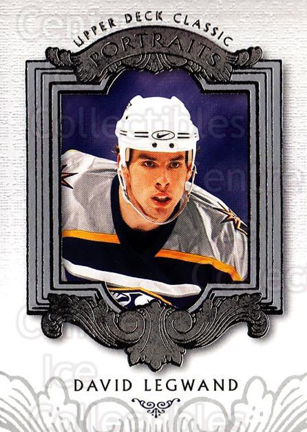 2003-04 UD Classic Portraits #54 David Legwand<br/>5 In Stock - $1.00 each - <a href=https://centericecollectibles.foxycart.com/cart?name=2003-04%20UD%20Classic%20Portraits%20%2354%20David%20Legwand...&quantity_max=5&price=$1.00&code=120096 class=foxycart> Buy it now! </a>