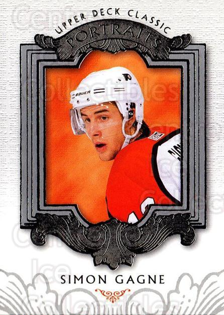 2003-04 UD Classic Portraits #73 Simon Gagne<br/>5 In Stock - $1.00 each - <a href=https://centericecollectibles.foxycart.com/cart?name=2003-04%20UD%20Classic%20Portraits%20%2373%20Simon%20Gagne...&quantity_max=5&price=$1.00&code=120117 class=foxycart> Buy it now! </a>
