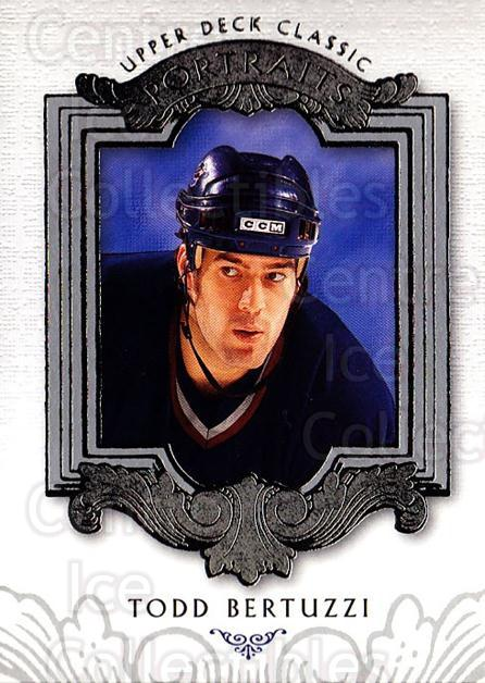 2003-04 UD Classic Portraits #96 Todd Bertuzzi<br/>5 In Stock - $1.00 each - <a href=https://centericecollectibles.foxycart.com/cart?name=2003-04%20UD%20Classic%20Portraits%20%2396%20Todd%20Bertuzzi...&quantity_max=5&price=$1.00&code=120141 class=foxycart> Buy it now! </a>