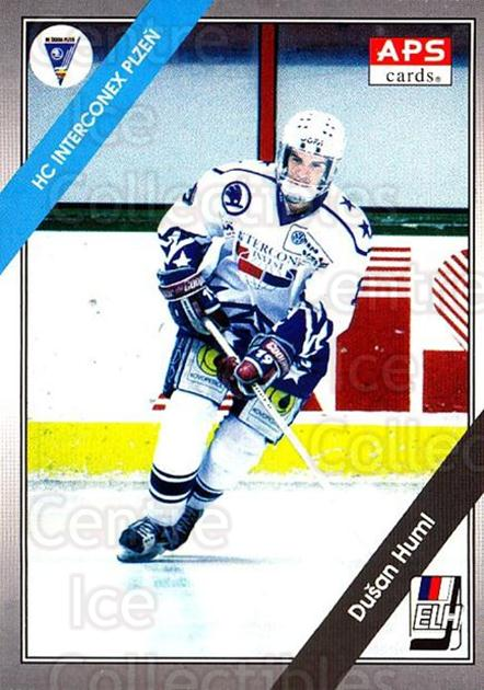 1994-95 Czech APS Extraliga #152 Dusan Huml<br/>9 In Stock - $2.00 each - <a href=https://centericecollectibles.foxycart.com/cart?name=1994-95%20Czech%20APS%20Extraliga%20%23152%20Dusan%20Huml...&quantity_max=9&price=$2.00&code=1201 class=foxycart> Buy it now! </a>