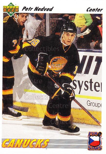 1991-92 Upper Deck Euro-Stars #5 Petr Nedved<br/>19 In Stock - $1.00 each - <a href=https://centericecollectibles.foxycart.com/cart?name=1991-92%20Upper%20Deck%20Euro-Stars%20%235%20Petr%20Nedved...&quantity_max=19&price=$1.00&code=12041 class=foxycart> Buy it now! </a>