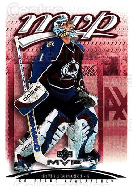 2003-04 Upper Deck MVP #112 David Aebischer<br/>3 In Stock - $1.00 each - <a href=https://centericecollectibles.foxycart.com/cart?name=2003-04%20Upper%20Deck%20MVP%20%23112%20David%20Aebischer...&quantity_max=3&price=$1.00&code=120556 class=foxycart> Buy it now! </a>
