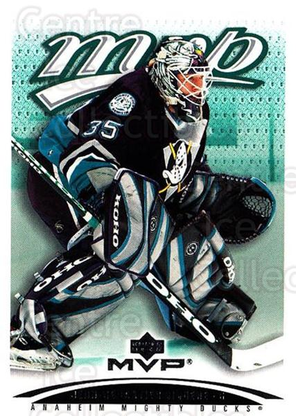 2003-04 Upper Deck MVP #14 Jean-Sebastien Giguere<br/>3 In Stock - $1.00 each - <a href=https://centericecollectibles.foxycart.com/cart?name=2003-04%20Upper%20Deck%20MVP%20%2314%20Jean-Sebastien%20...&quantity_max=3&price=$1.00&code=120586 class=foxycart> Buy it now! </a>