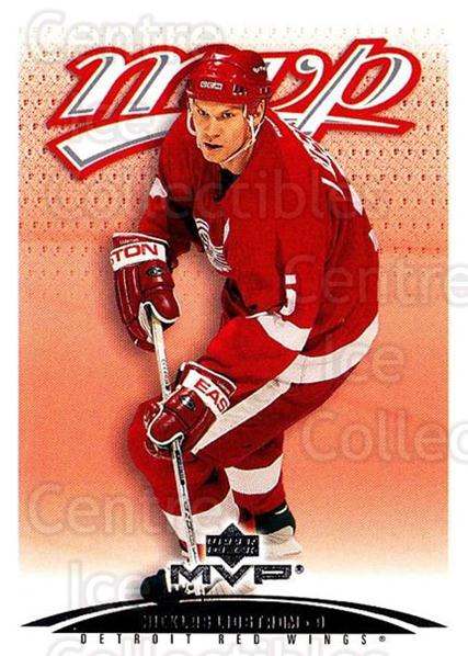 2003-04 Upper Deck MVP #145 Nicklas Lidstrom<br/>2 In Stock - $1.00 each - <a href=https://centericecollectibles.foxycart.com/cart?name=2003-04%20Upper%20Deck%20MVP%20%23145%20Nicklas%20Lidstro...&quantity_max=2&price=$1.00&code=120590 class=foxycart> Buy it now! </a>
