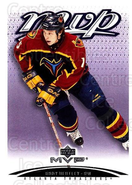 2003-04 Upper Deck MVP #15 Dany Heatley<br/>4 In Stock - $1.00 each - <a href=https://centericecollectibles.foxycart.com/cart?name=2003-04%20Upper%20Deck%20MVP%20%2315%20Dany%20Heatley...&quantity_max=4&price=$1.00&code=120593 class=foxycart> Buy it now! </a>