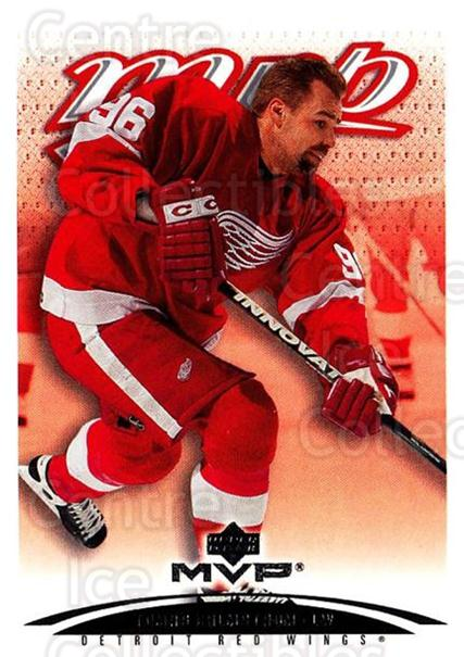 2003-04 Upper Deck MVP #150 Tomas Holmstrom<br/>2 In Stock - $1.00 each - <a href=https://centericecollectibles.foxycart.com/cart?name=2003-04%20Upper%20Deck%20MVP%20%23150%20Tomas%20Holmstrom...&quantity_max=2&price=$1.00&code=120594 class=foxycart> Buy it now! </a>
