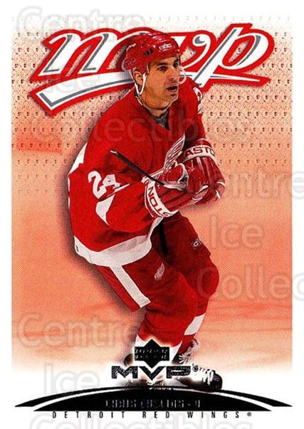 2003-04 Upper Deck MVP #154 Chris Chelios<br/>2 In Stock - $1.00 each - <a href=https://centericecollectibles.foxycart.com/cart?name=2003-04%20Upper%20Deck%20MVP%20%23154%20Chris%20Chelios...&quantity_max=2&price=$1.00&code=120597 class=foxycart> Buy it now! </a>