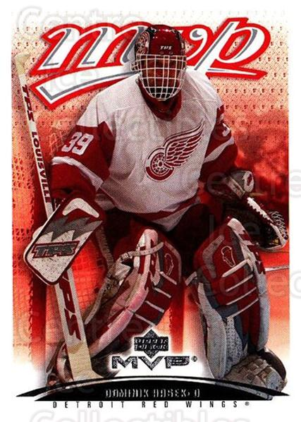 2003-04 Upper Deck MVP #155 Dominik Hasek<br/>1 In Stock - $1.00 each - <a href=https://centericecollectibles.foxycart.com/cart?name=2003-04%20Upper%20Deck%20MVP%20%23155%20Dominik%20Hasek...&quantity_max=1&price=$1.00&code=120598 class=foxycart> Buy it now! </a>