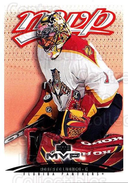 2003-04 Upper Deck MVP #188 Roberto Luongo<br/>1 In Stock - $1.00 each - <a href=https://centericecollectibles.foxycart.com/cart?name=2003-04%20Upper%20Deck%20MVP%20%23188%20Roberto%20Luongo...&quantity_max=1&price=$1.00&code=120631 class=foxycart> Buy it now! </a>