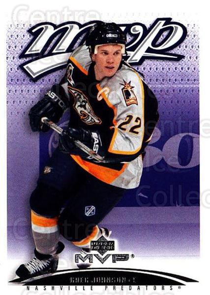 2003-04 Upper Deck MVP #243 Greg Johnson<br/>2 In Stock - $1.00 each - <a href=https://centericecollectibles.foxycart.com/cart?name=2003-04%20Upper%20Deck%20MVP%20%23243%20Greg%20Johnson...&quantity_max=2&price=$1.00&code=120690 class=foxycart> Buy it now! </a>