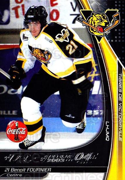 2003-04 Victoriaville Tigres #10 Benoit Fournier<br/>2 In Stock - $3.00 each - <a href=https://centericecollectibles.foxycart.com/cart?name=2003-04%20Victoriaville%20Tigres%20%2310%20Benoit%20Fournier...&quantity_max=2&price=$3.00&code=121177 class=foxycart> Buy it now! </a>