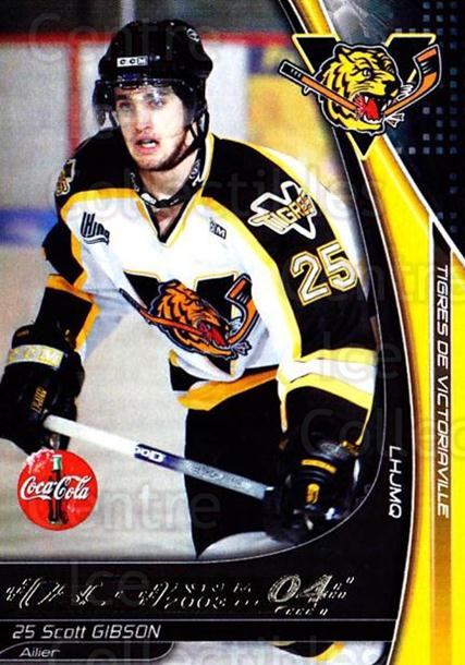 2003-04 Victoriaville Tigres #12 Scott Gibson<br/>2 In Stock - $3.00 each - <a href=https://centericecollectibles.foxycart.com/cart?name=2003-04%20Victoriaville%20Tigres%20%2312%20Scott%20Gibson...&quantity_max=2&price=$3.00&code=121179 class=foxycart> Buy it now! </a>