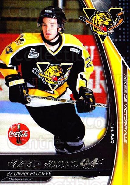 2003-04 Victoriaville Tigres #19 Olivier Plouffe<br/>2 In Stock - $3.00 each - <a href=https://centericecollectibles.foxycart.com/cart?name=2003-04%20Victoriaville%20Tigres%20%2319%20Olivier%20Plouffe...&quantity_max=2&price=$3.00&code=121183 class=foxycart> Buy it now! </a>