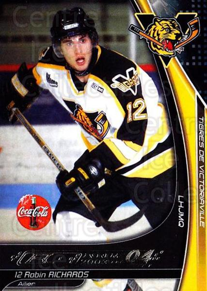 2003-04 Victoriaville Tigres #21 Robin Richards<br/>1 In Stock - $3.00 each - <a href=https://centericecollectibles.foxycart.com/cart?name=2003-04%20Victoriaville%20Tigres%20%2321%20Robin%20Richards...&quantity_max=1&price=$3.00&code=121185 class=foxycart> Buy it now! </a>