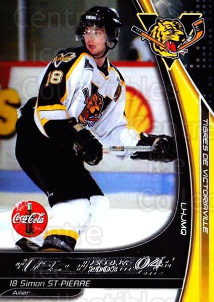 2003-04 Victoriaville Tigres #25 Simon St.Pierre<br/>2 In Stock - $3.00 each - <a href=https://centericecollectibles.foxycart.com/cart?name=2003-04%20Victoriaville%20Tigres%20%2325%20Simon%20St.Pierre...&quantity_max=2&price=$3.00&code=121188 class=foxycart> Buy it now! </a>