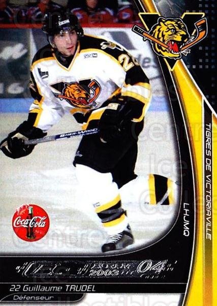 2003-04 Victoriaville Tigres #27 Guillaume Trudel<br/>2 In Stock - $3.00 each - <a href=https://centericecollectibles.foxycart.com/cart?name=2003-04%20Victoriaville%20Tigres%20%2327%20Guillaume%20Trude...&quantity_max=2&price=$3.00&code=121189 class=foxycart> Buy it now! </a>