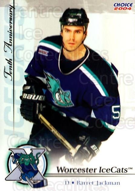 2003-04 Worcester IceCats Anniversary #4 Barret Jackman<br/>1 In Stock - $3.00 each - <a href=https://centericecollectibles.foxycart.com/cart?name=2003-04%20Worcester%20IceCats%20Anniversary%20%234%20Barret%20Jackman...&quantity_max=1&price=$3.00&code=121227 class=foxycart> Buy it now! </a>