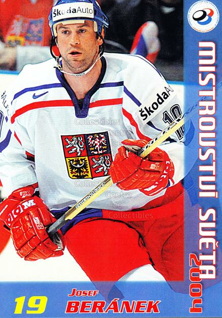 2004-05 Czech World Championship Postcards #1 Josef Beranek<br/>1 In Stock - $3.00 each - <a href=https://centericecollectibles.foxycart.com/cart?name=2004-05%20Czech%20World%20Championship%20Postcards%20%231%20Josef%20Beranek...&quantity_max=1&price=$3.00&code=121269 class=foxycart> Buy it now! </a>