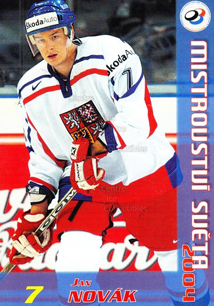 2004-05 Czech World Championship Postcards #14 Jan Novak<br/>2 In Stock - $3.00 each - <a href=https://centericecollectibles.foxycart.com/cart?name=2004-05%20Czech%20World%20Championship%20Postcards%20%2314%20Jan%20Novak...&quantity_max=2&price=$3.00&code=121273 class=foxycart> Buy it now! </a>