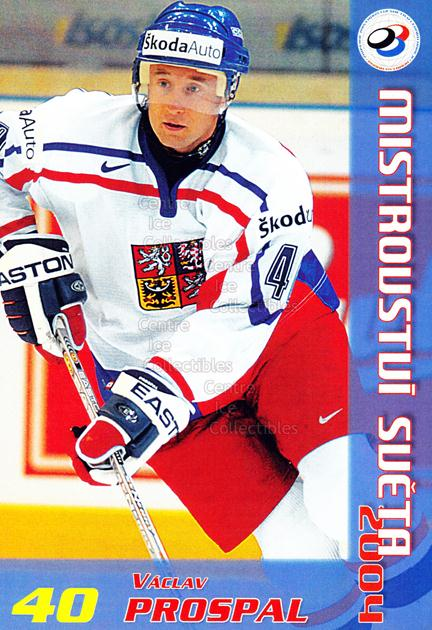 2004-05 Czech World Championship Postcards #15 Vaclav Prospal<br/>2 In Stock - $3.00 each - <a href=https://centericecollectibles.foxycart.com/cart?name=2004-05%20Czech%20World%20Championship%20Postcards%20%2315%20Vaclav%20Prospal...&quantity_max=2&price=$3.00&code=121274 class=foxycart> Buy it now! </a>