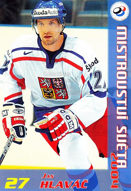 2004-05 Czech World Championship Postcards #9 Jan Hlavac<br/>2 In Stock - $3.00 each - <a href=https://centericecollectibles.foxycart.com/cart?name=2004-05%20Czech%20World%20Championship%20Postcards%20%239%20Jan%20Hlavac...&quantity_max=2&price=$3.00&code=121281 class=foxycart> Buy it now! </a>