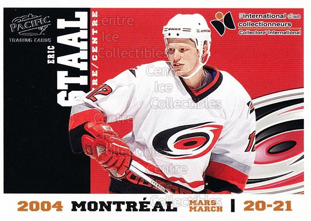 2004 Pacific Montreal International Redemption #2 Eric Staal<br/>8 In Stock - $3.00 each - <a href=https://centericecollectibles.foxycart.com/cart?name=2004%20Pacific%20Montreal%20International%20Redemption%20%232%20Eric%20Staal...&quantity_max=8&price=$3.00&code=121289 class=foxycart> Buy it now! </a>