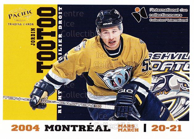 2004 Pacific Montreal International Redemption #5 Jordin Tootoo<br/>1 In Stock - $3.00 each - <a href=https://centericecollectibles.foxycart.com/cart?name=2004%20Pacific%20Montreal%20International%20Redemption%20%235%20Jordin%20Tootoo...&quantity_max=1&price=$3.00&code=121292 class=foxycart> Buy it now! </a>