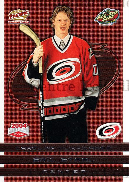 2004 Pacific Calder AS Redemption #3 Eric Staal<br/>3 In Stock - $3.00 each - <a href=https://centericecollectibles.foxycart.com/cart?name=2004%20Pacific%20Calder%20AS%20Redemption%20%233%20Eric%20Staal...&quantity_max=3&price=$3.00&code=121297 class=foxycart> Buy it now! </a>