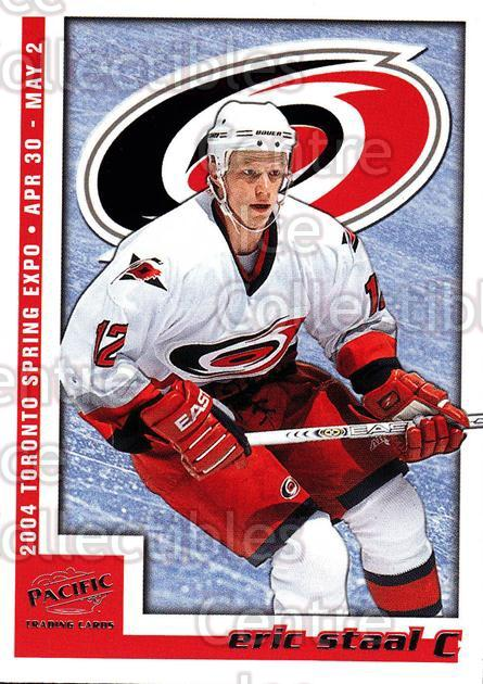 2004 Pacific Toronto Spring Expo Redemption #2 Eric Staal<br/>6 In Stock - $3.00 each - <a href=https://centericecollectibles.foxycart.com/cart?name=2004%20Pacific%20Toronto%20Spring%20Expo%20Redemption%20%232%20Eric%20Staal...&quantity_max=6&price=$3.00&code=121321 class=foxycart> Buy it now! </a>