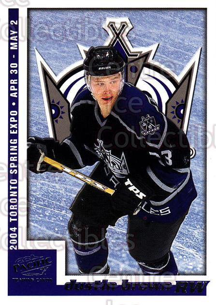 2004 Pacific Toronto Spring Expo Redemption #4 Dustin Brown<br/>6 In Stock - $3.00 each - <a href=https://centericecollectibles.foxycart.com/cart?name=2004%20Pacific%20Toronto%20Spring%20Expo%20Redemption%20%234%20Dustin%20Brown...&quantity_max=6&price=$3.00&code=121323 class=foxycart> Buy it now! </a>