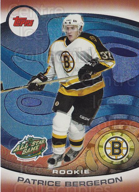 2004 Topps AS Fantasy Redemption #3 Patrice Bergeron<br/>1 In Stock - $10.00 each - <a href=https://centericecollectibles.foxycart.com/cart?name=2004%20Topps%20AS%20Fantasy%20Redemption%20%233%20Patrice%20Bergero...&quantity_max=1&price=$10.00&code=121407 class=foxycart> Buy it now! </a>