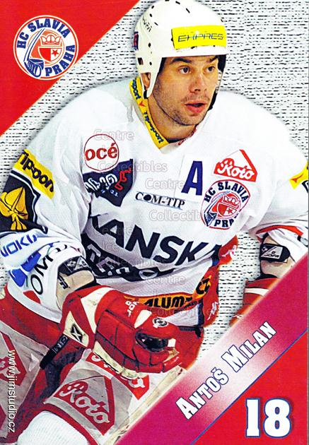 2004-05 Czech HC Slavia Praha Postcards #1 Milan Antos<br/>2 In Stock - $3.00 each - <a href=https://centericecollectibles.foxycart.com/cart?name=2004-05%20Czech%20HC%20Slavia%20Praha%20Postcards%20%231%20Milan%20Antos...&quantity_max=2&price=$3.00&code=121575 class=foxycart> Buy it now! </a>