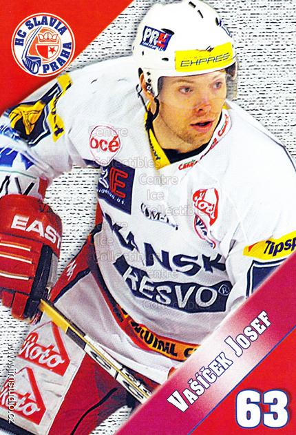 2004-05 Czech HC Slavia Praha Postcards #15 Josef Vasicek<br/>4 In Stock - $3.00 each - <a href=https://centericecollectibles.foxycart.com/cart?name=2004-05%20Czech%20HC%20Slavia%20Praha%20Postcards%20%2315%20Josef%20Vasicek...&price=$3.00&code=121576 class=foxycart> Buy it now! </a>