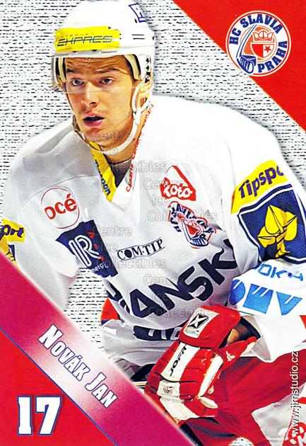 2004-05 Czech HC Slavia Praha Postcards #8 Jan Novak<br/>4 In Stock - $3.00 each - <a href=https://centericecollectibles.foxycart.com/cart?name=2004-05%20Czech%20HC%20Slavia%20Praha%20Postcards%20%238%20Jan%20Novak...&price=$3.00&code=121579 class=foxycart> Buy it now! </a>