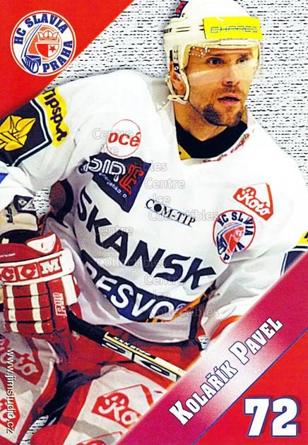 2004-05 Czech HC Slavia Praha Postcards #7 Pavel Kolarik<br/>4 In Stock - $3.00 each - <a href=https://centericecollectibles.foxycart.com/cart?name=2004-05%20Czech%20HC%20Slavia%20Praha%20Postcards%20%237%20Pavel%20Kolarik...&quantity_max=4&price=$3.00&code=121580 class=foxycart> Buy it now! </a>