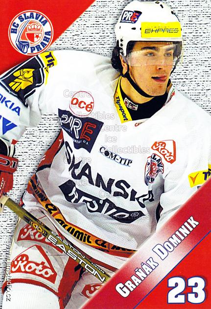 2004-05 Czech HC Slavia Praha Postcards #3 Dominik Granak<br/>3 In Stock - $3.00 each - <a href=https://centericecollectibles.foxycart.com/cart?name=2004-05%20Czech%20HC%20Slavia%20Praha%20Postcards%20%233%20Dominik%20Granak...&quantity_max=3&price=$3.00&code=121582 class=foxycart> Buy it now! </a>