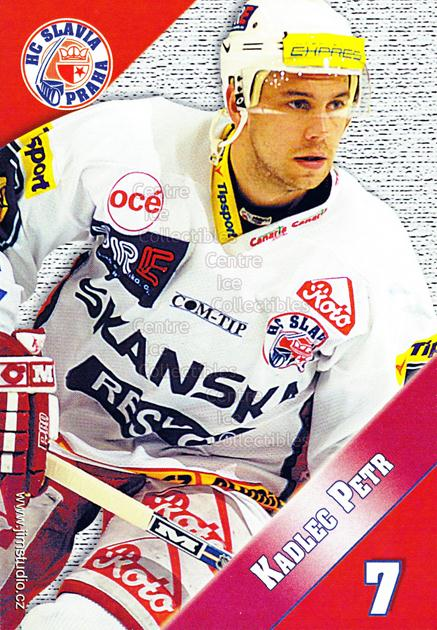 2004-05 Czech HC Slavia Praha Postcards #6 Petr Kadlec<br/>4 In Stock - $3.00 each - <a href=https://centericecollectibles.foxycart.com/cart?name=2004-05%20Czech%20HC%20Slavia%20Praha%20Postcards%20%236%20Petr%20Kadlec...&price=$3.00&code=121586 class=foxycart> Buy it now! </a>