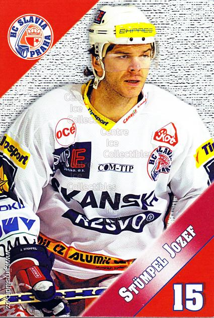 2004-05 Czech HC Slavia Praha Postcards #12 Jozef Stumpel<br/>4 In Stock - $3.00 each - <a href=https://centericecollectibles.foxycart.com/cart?name=2004-05%20Czech%20HC%20Slavia%20Praha%20Postcards%20%2312%20Jozef%20Stumpel...&price=$3.00&code=121587 class=foxycart> Buy it now! </a>