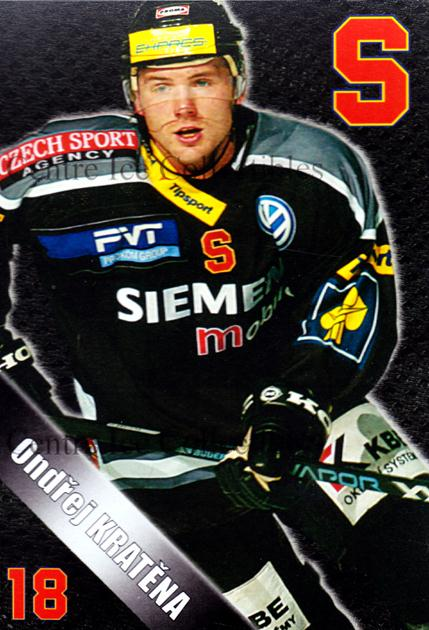 2004-05 Czech HC Sparta Praha Postcards #10 Ondrej Kratena<br/>5 In Stock - $3.00 each - <a href=https://centericecollectibles.foxycart.com/cart?name=2004-05%20Czech%20HC%20Sparta%20Praha%20Postcards%20%2310%20Ondrej%20Kratena...&quantity_max=5&price=$3.00&code=121589 class=foxycart> Buy it now! </a>