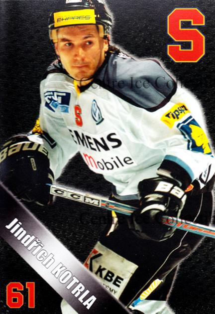 2004-05 Czech HC Sparta Praha Postcards #9 Jindrich Kotrla<br/>6 In Stock - $3.00 each - <a href=https://centericecollectibles.foxycart.com/cart?name=2004-05%20Czech%20HC%20Sparta%20Praha%20Postcards%20%239%20Jindrich%20Kotrla...&quantity_max=6&price=$3.00&code=121610 class=foxycart> Buy it now! </a>